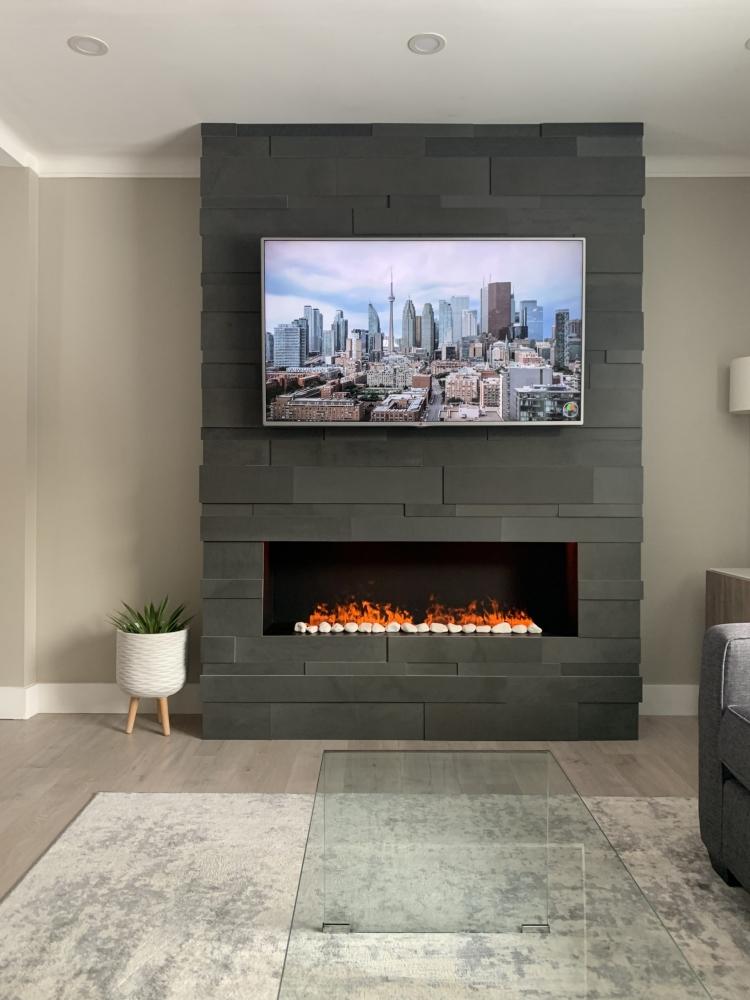 Lavastone Fireplace