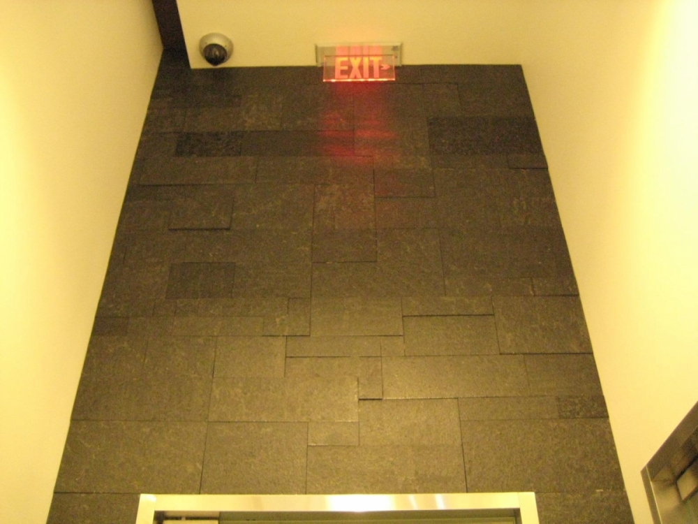 Installation of Lavastone Flamed Erthcoverings