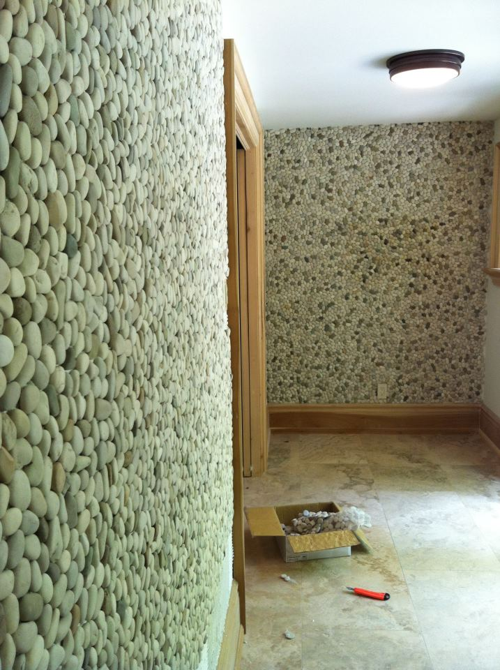 Ivory Blend Pebbles Wall Feature Erthcoverings