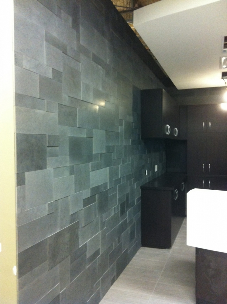 Lavastone Erthcoverings Feature Wall Install