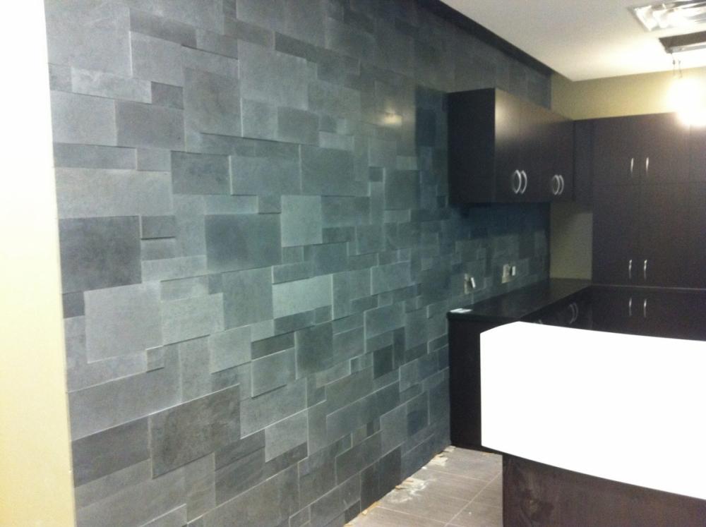Lavastone Installation on Feature Wall