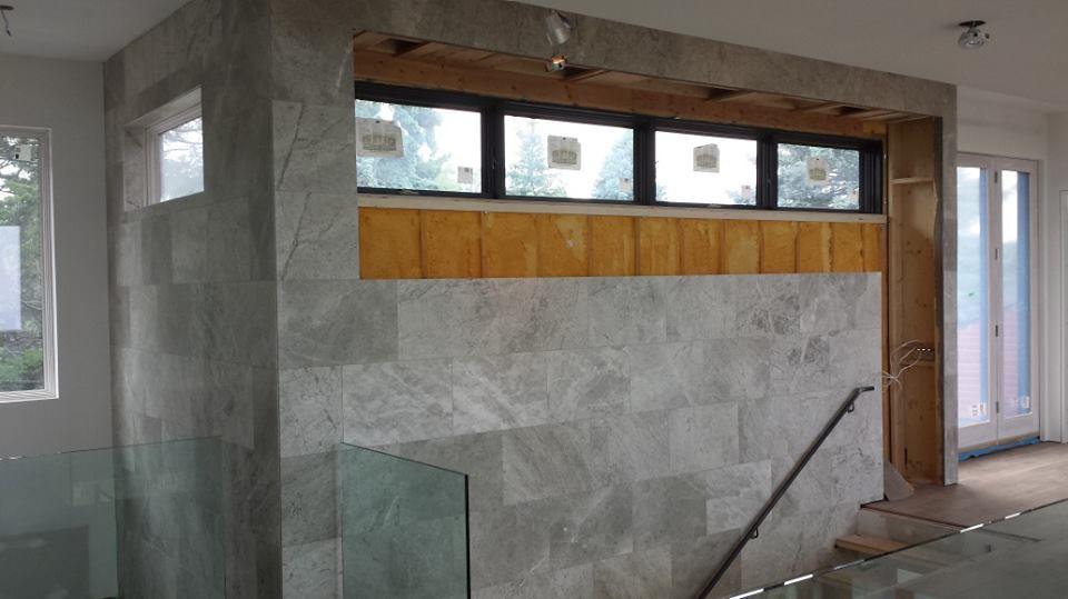 Limestone Installation on Feature Wall