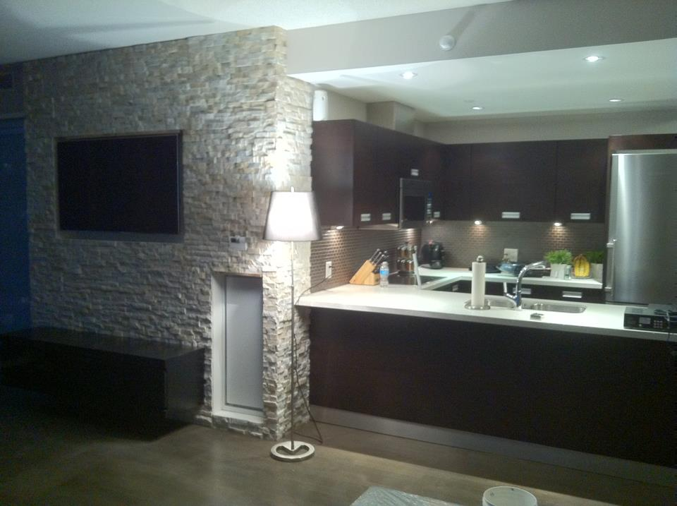 Moutain Grey Erthcoverings Fireplace Install
