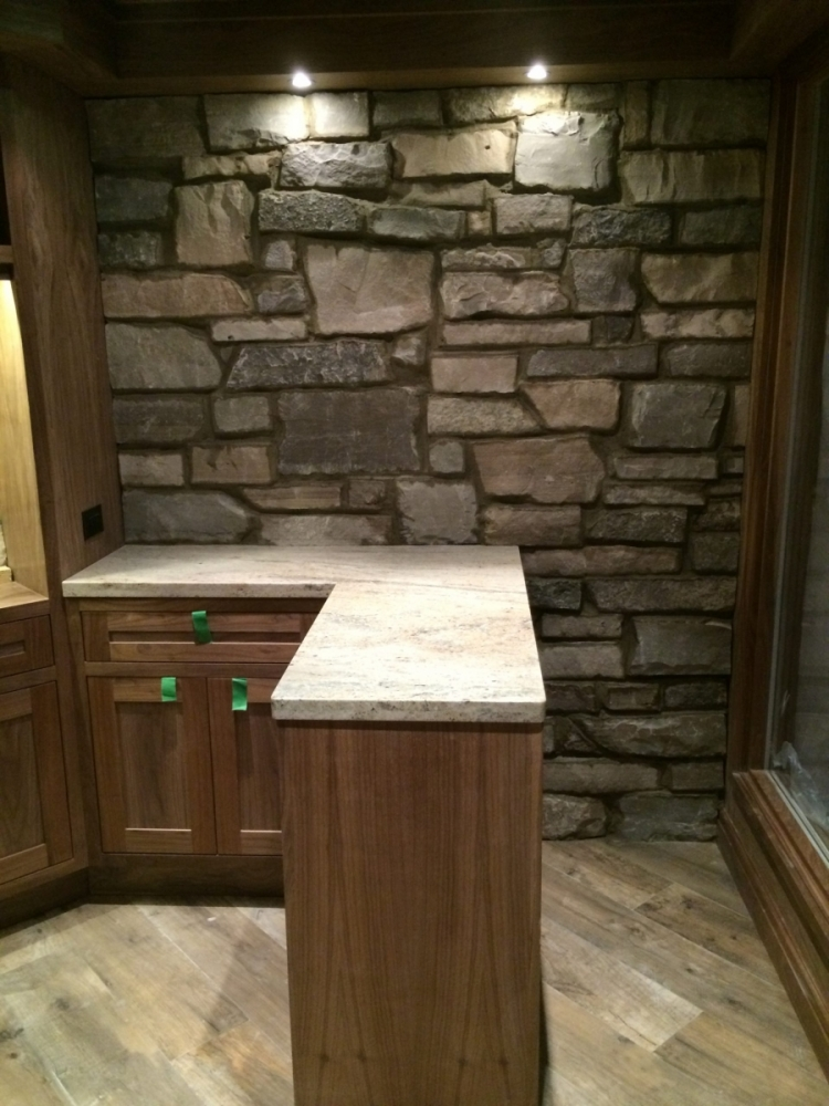Natural Stone Veneer Feature Wall