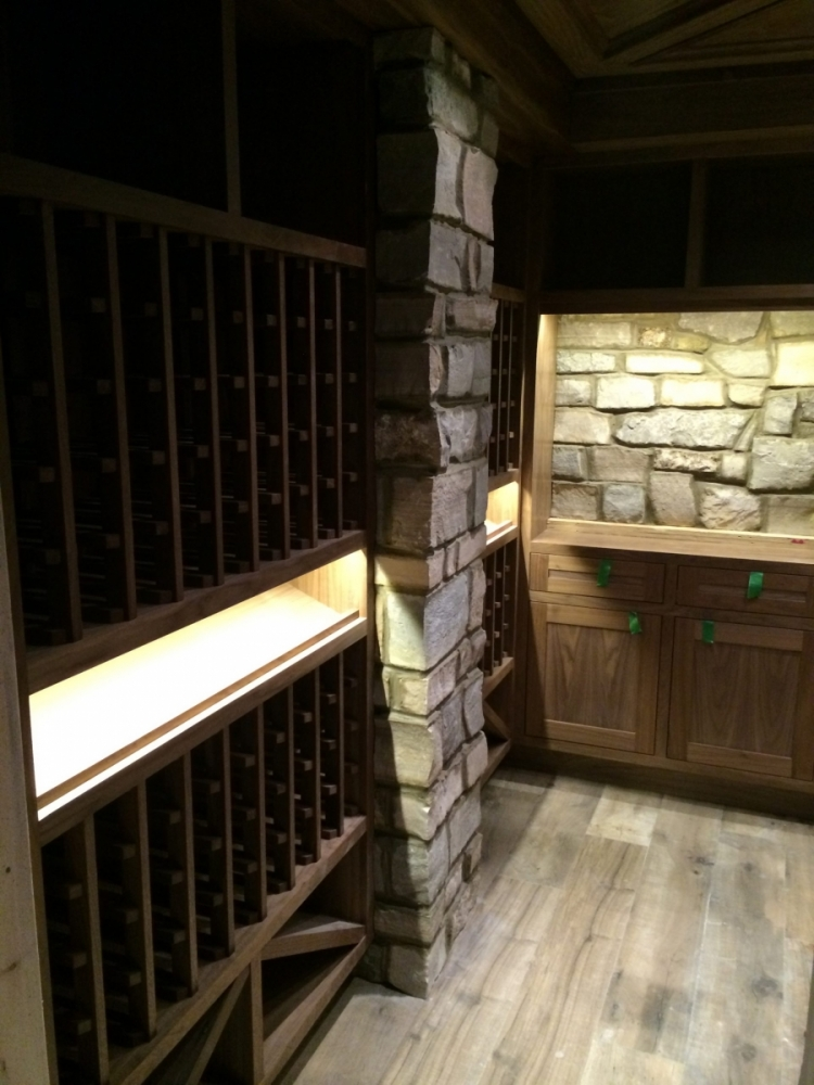Natural Stone Veneer Wine Cellar