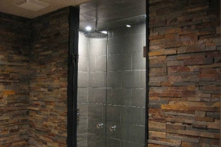 Outback Brown 3D Erthcoverings Feature Wall Install
