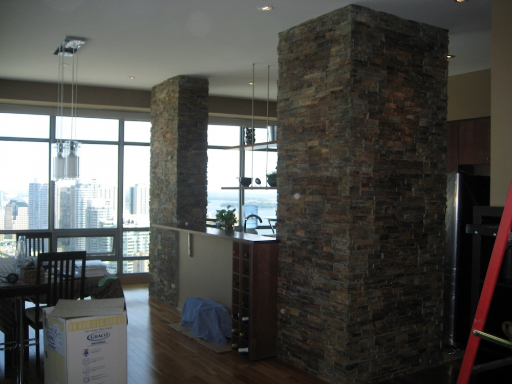 Outback Brown Ledgestone Erthcoverings Feature Wall