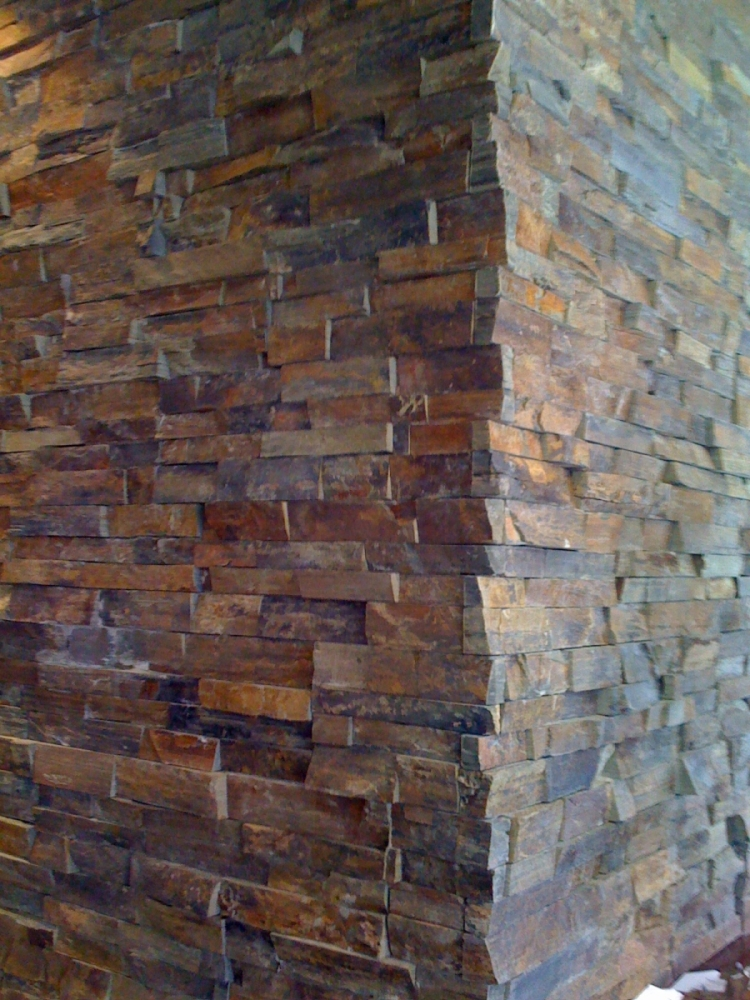 Outback Brown Ledgestone Erthcoverings Installation
