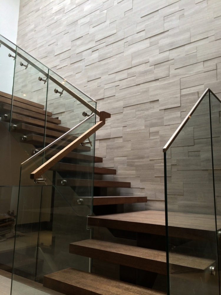 Silver Fox Erthcoverings Installation on Staircase