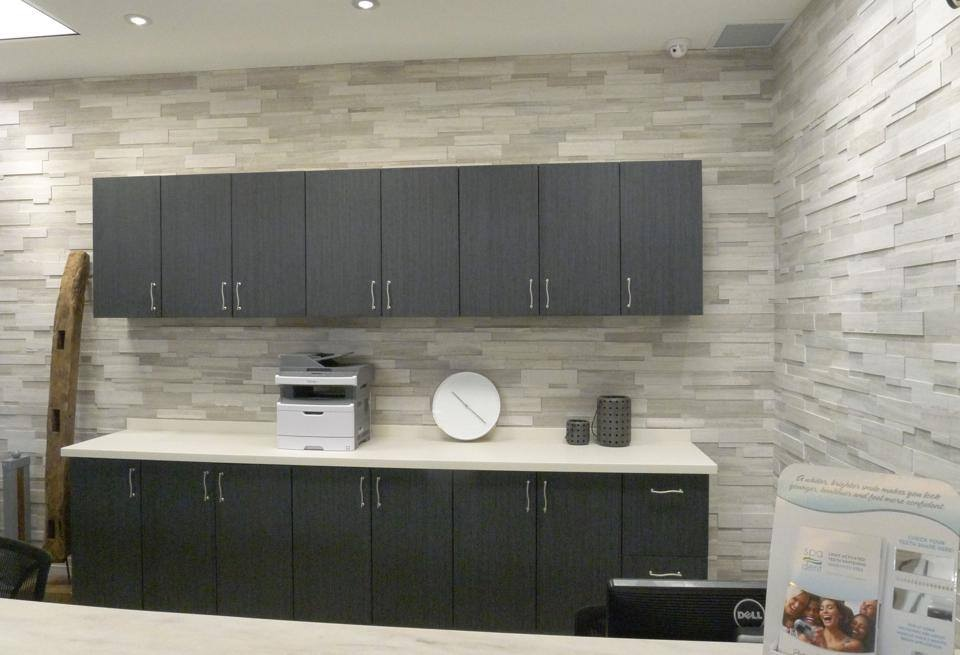 Silver Fox Erthcoverings Strips Feature Wall