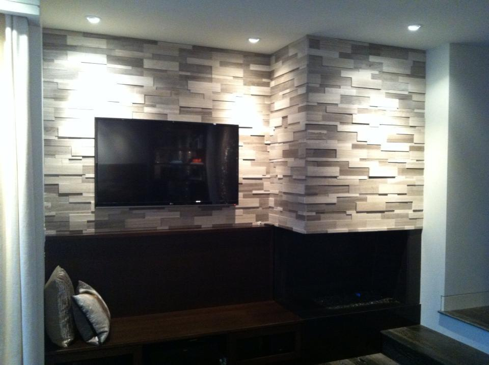 Silver Fox Erthcoverings Wall Feature Installation