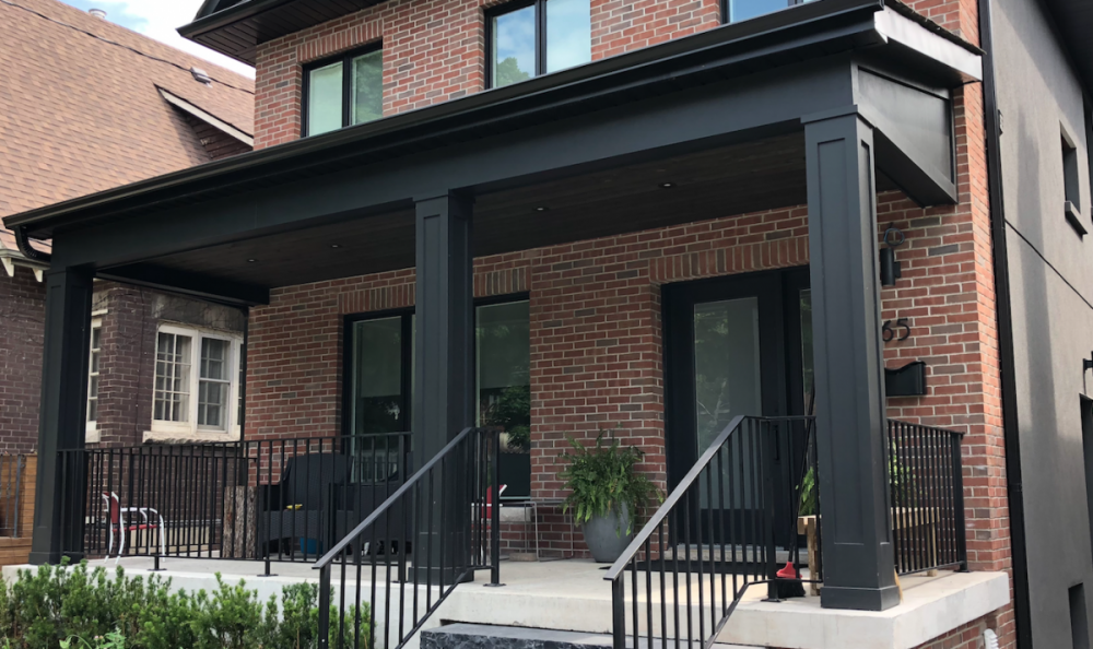 brick veneer exterior