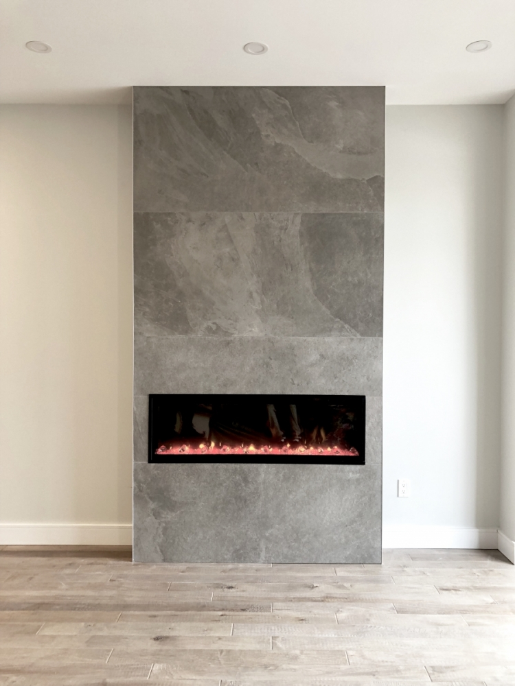 fireplace porclian tile