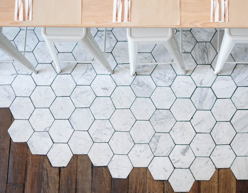 Hex tile Marble