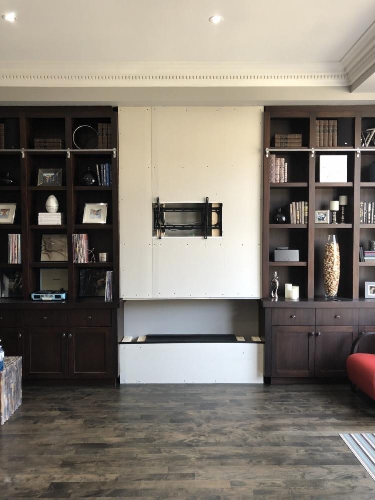 optimyst dimplex fireplace build