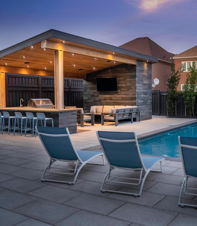 outdoor living space toronto oakville burlington vaughn